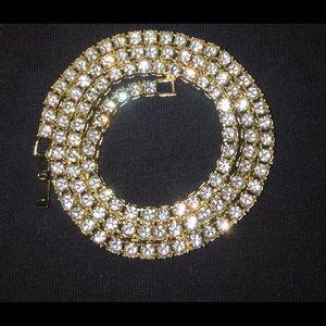 Gold Chain Tennis Chain 20in 4mm